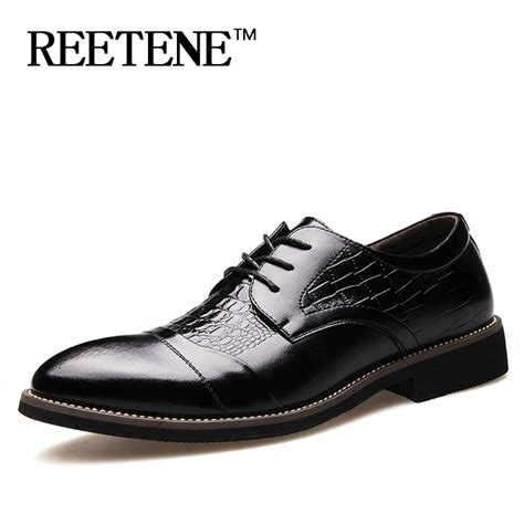 comfortable dress boots for men business dress shoes for men crocodile grain men shoes