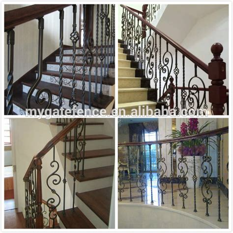 yishujia factory forged iron stair handrails metal stairs