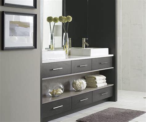 modern walnut bathroom vanity smokey gray cabinet stain on walnut omega