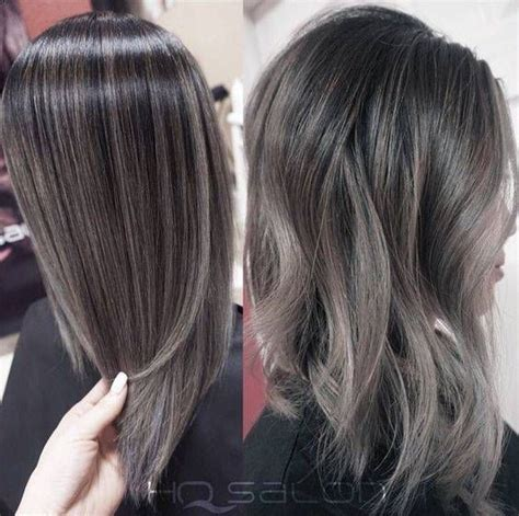 greay hair color fristing gray silver black hair color melt hairstyle pinterest
