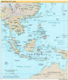 South East Asia Physical Map by Online Maps Southeast Asia Physical Map