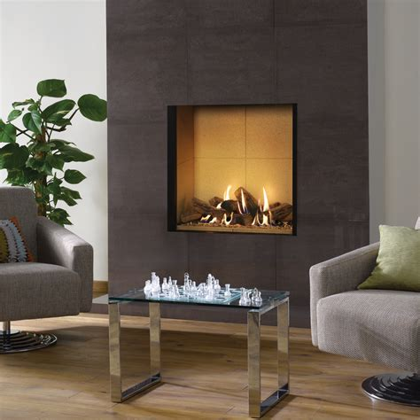 Vermiculite Fireplace by Riva2 800 Edge Gas Fires