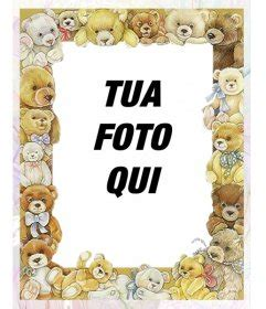 orsi cornici cornice per foto con immagini di bambini orsi che circonda