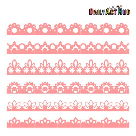 lace border clip lace borders clip set daily hub