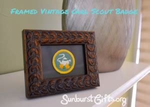 throwback thursday s day gift throwback thursday framed vintage scout badge thoughtful gifts sunburst