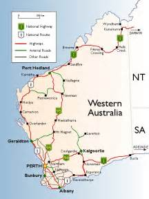 the state of western australia road network maps