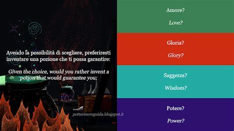 test harry potter smistamento smistamento a hogwarts nel nuovo pottermore traduzione