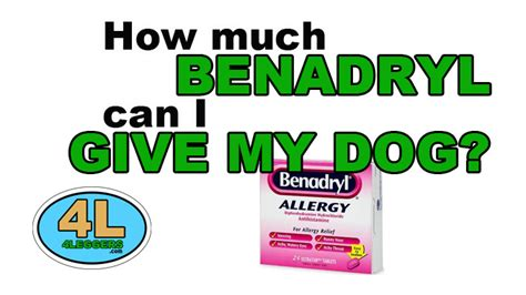how often can i give my benadryl how much benadryl can i give my 4leggers