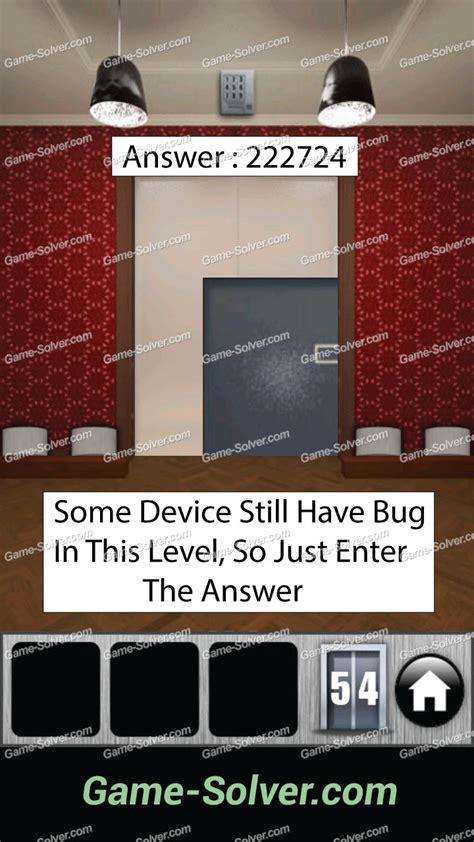 100 doors 2013 lvl 2 100 doors 2013 level 54 game solver
