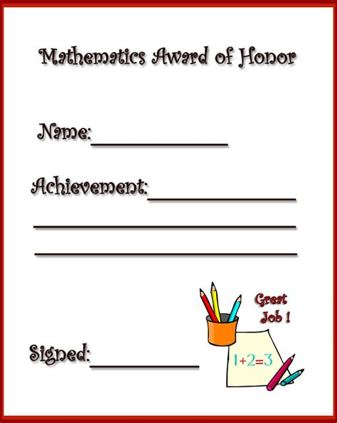 math certificate template create free school certificates award certificates