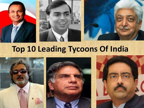 top 10 leading tycoons of india