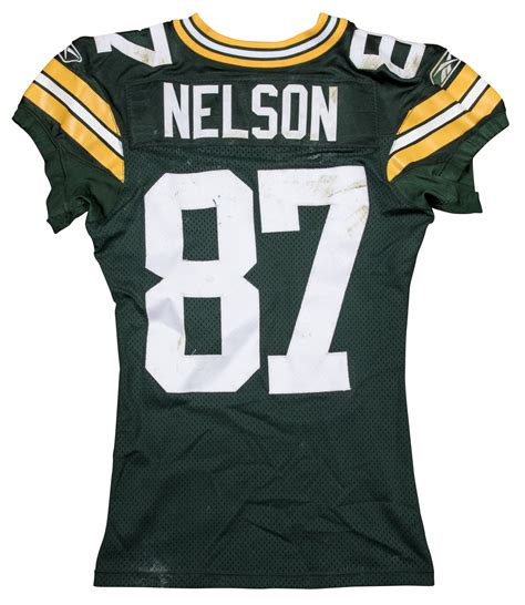 jordy nelson green bay packers jersey lot detail 2011 jordy nelson game used green bay packers