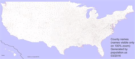 map usa counties us counties population