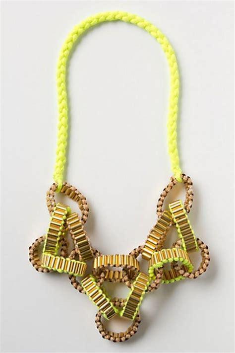 Handcrafted Necklace - neon wedding eye pop yellow neon handmade necklace