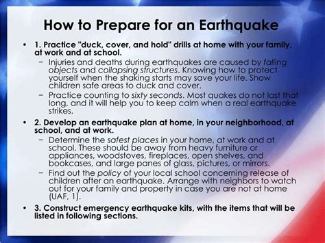 How To Prepare For An Ppt Children And Earthquakes Protective Measures For