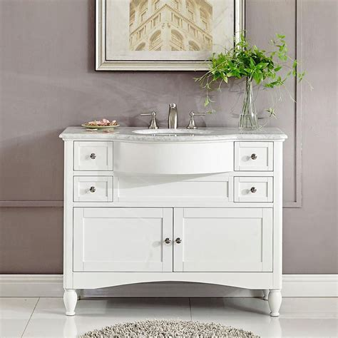 Modern Single Bathroom Vanity by 45 Quot Modern Single Bathroom Vanity White