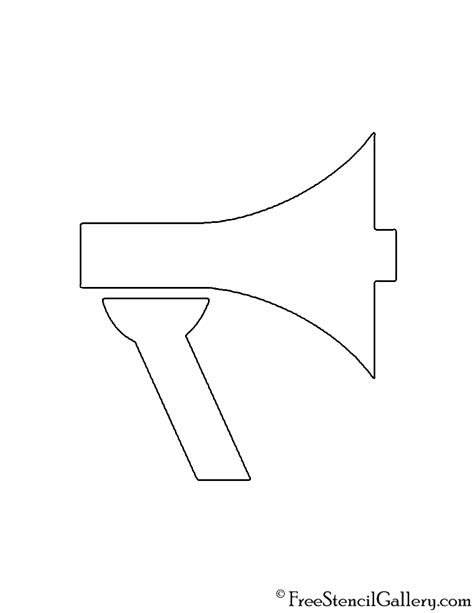 megaphone template megaphone template printable images search