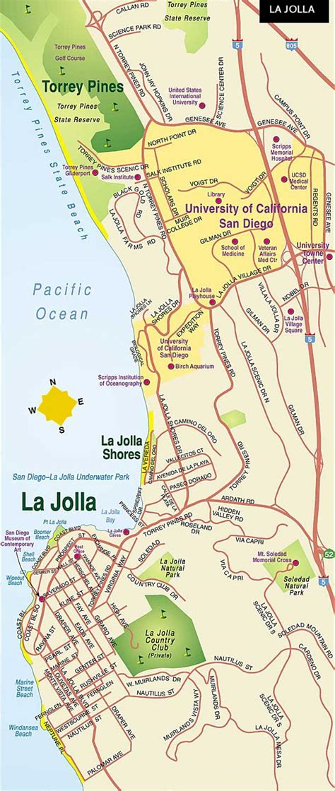 california map la jolla la jolla map