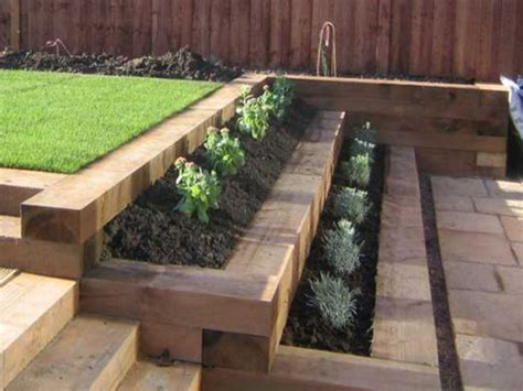 Ironwood Sleepers by Retaining Wall Wooden Sleepers Search Gardening