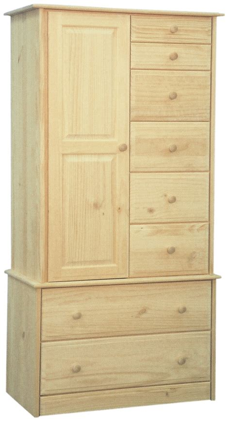 Unfinished Pine Armoire by Solid Pine Armoire With 8 Drawers Bedroom