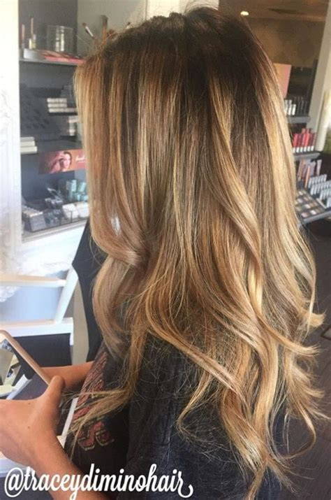 crown lowlights balayage long