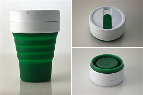 collapsible coffee mug the latest kickstarter smash smash cup a collapsible travel mug core77