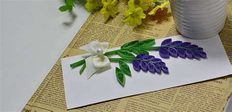 quilled lavender cards fun family crafts