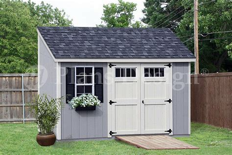 storage shed plans    deluxe lean  slant