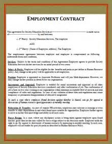 template employment contract free word templates part 2