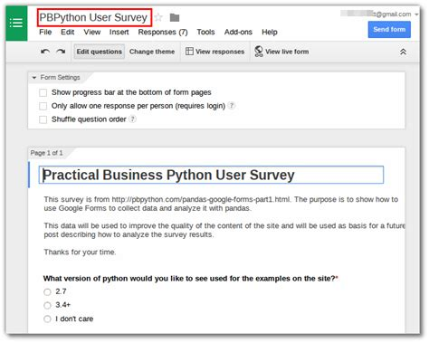 google form survey tutorial collecting data with google forms and pandas practical