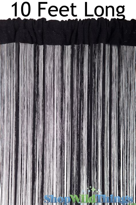 10 foot long curtains black string curtain 10 feet pipe and drape curtains