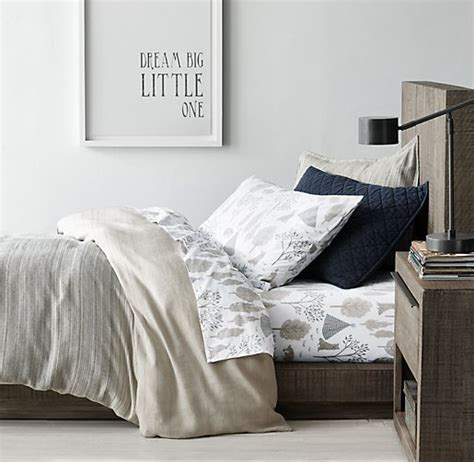 Rustic Weave Forest Wolf Percale Bedding Collection Wolf Crib Bedding