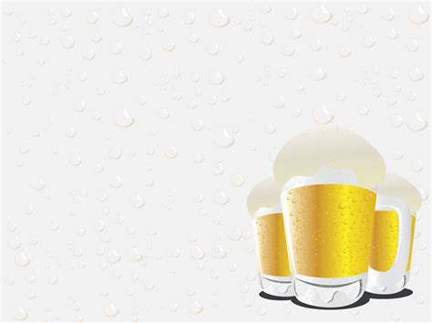 beer glasses powerpoint templates food drink yellow