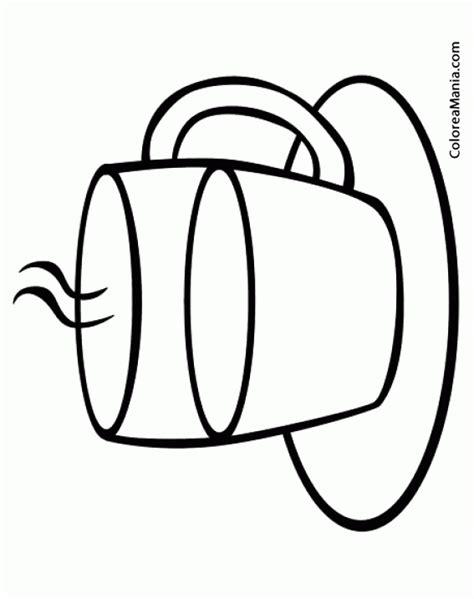 dibujos de bebidas para colorear colorear taza de te bebidas dibujo para colorear gratis