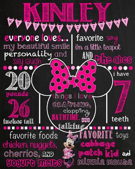 Minnie Mouse Birthday Quotes Quotesgram 2nd Birthday Chalkboard Template