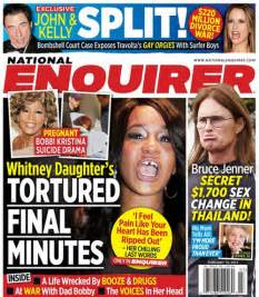 This Weeks National Enquirer Attempts brown attempt booze and