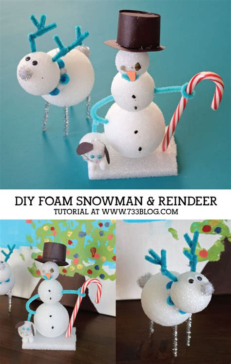 snowman and reindeer diy snowman and reindeer seven thirty three