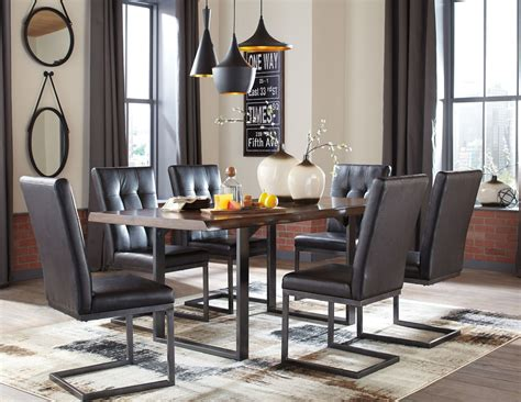 brown dining room esmarina dark brown rectangular dining room set from
