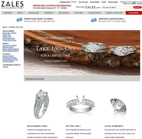 Design Your Own Wedding Ring Zales by Coupons For Zales Jewelry Store Style Guru Fashion