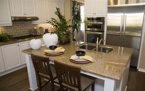 granite kitchen island with seating hamilton arctic white thermofoil kitchen cabinets