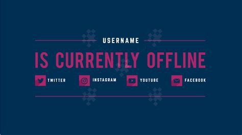 Twitch Offline Banner Templates Offline Screens For Your Twitch Header Template