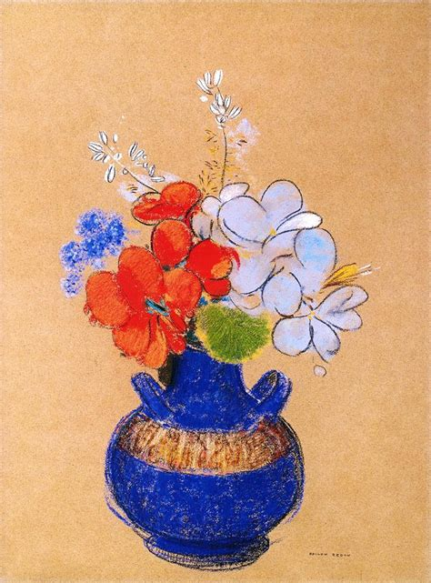 Flowers In A Blue Vase flowers in a blue vase odilon redon wikiart org encyclopedia of visual arts