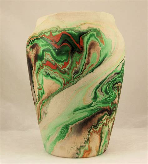 Vintage Those Shoes Handmade Painted - vintage nemadji pottery handmade painted vase