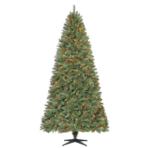 9 slim pre lit pine christmas tree holiday sparkle with
