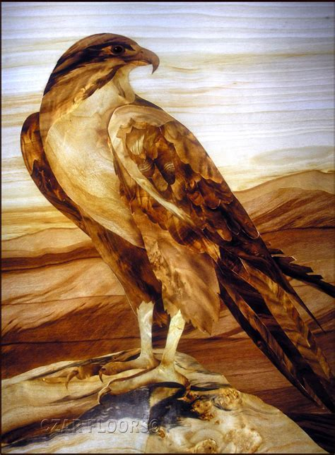 Marquetry, Model: Eagle   Custom Wood, Stone Flooring