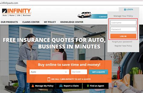 Infinity Auto Insurance Login by Infinity Auto Insurance Login Make A Payment