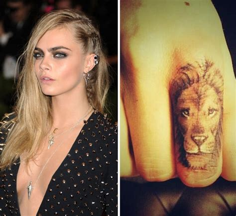 cara delevingne lion tattoo supermodel cara delevingne shared a picture of new