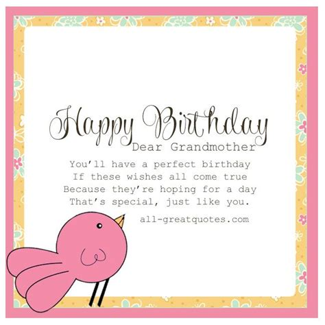 printable happy birthday card for grandma 1000 images about birthday sayings on pinterest