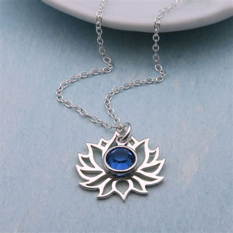 sterling silver lotus necklace personalized lotus flower