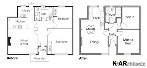 Kitchen Floor Plans Before And After Punt Road Richmond K Architects Archinect